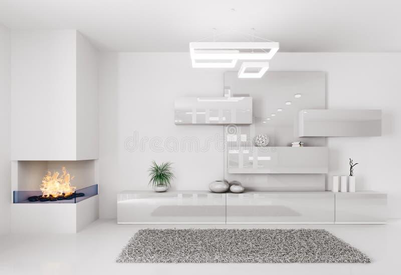White room interior vector illustration