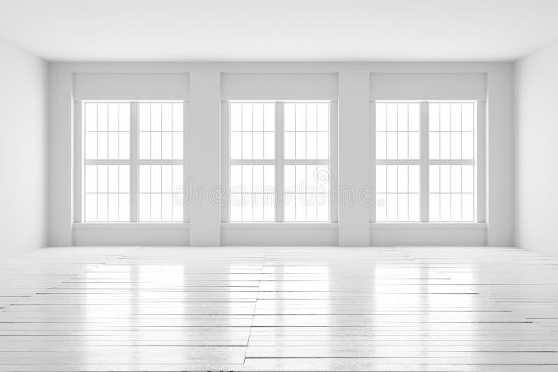 White room interior mock up stock photos