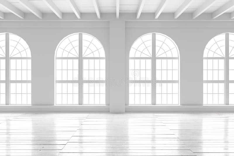 White room interior, open space mockup royalty free illustration