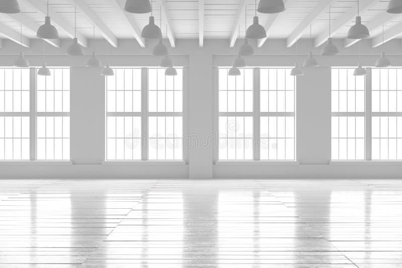 White room interior, open space mockup stock photos