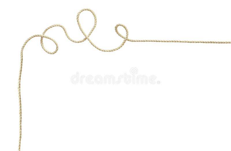 White rope corner stock image