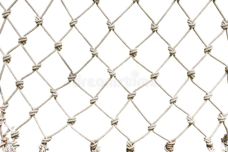 White rope net woven. Rope net woven isolated on white background with clipping path stock images