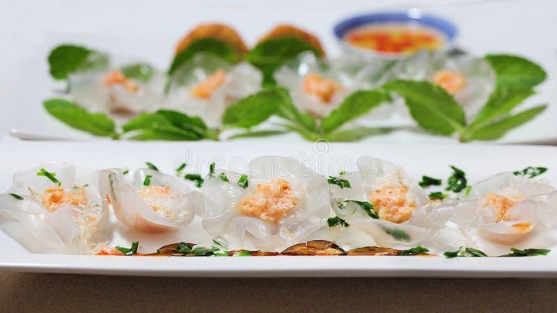 White Rose Chive Dumplings stock afbeeldingen