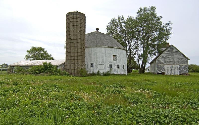 White round barn, Crown Point, Indiana royalty free stock photos