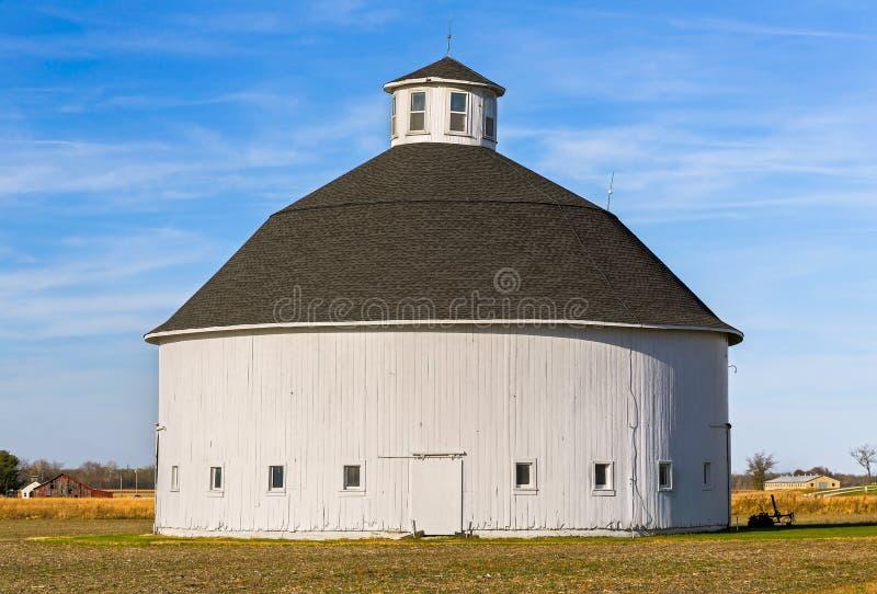 White Round Barn stock photo