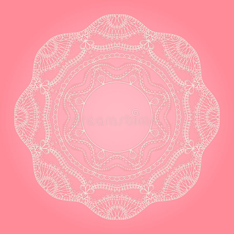 Download White round lace stock vector. Image of embroidery, central - 28799437