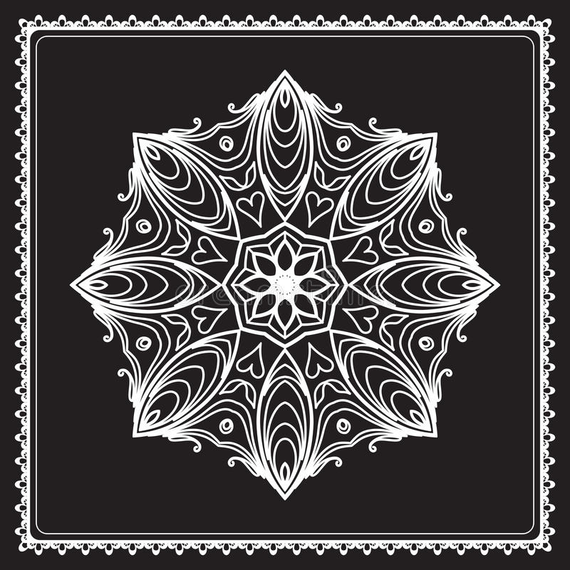 White Round Lace Stock Photography