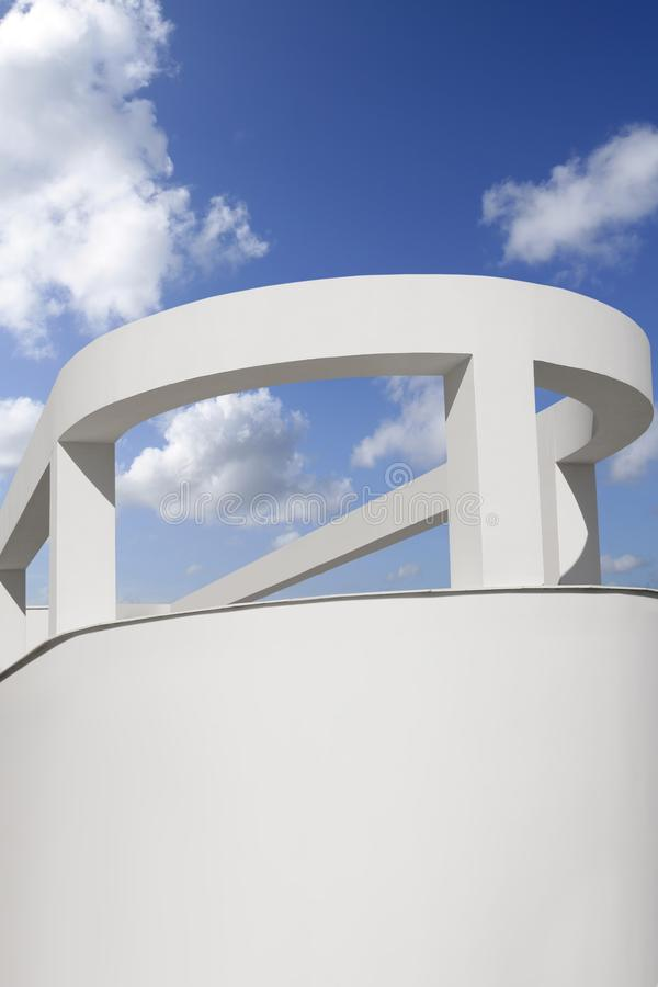 Download White Round Portico Columns Blue Sky Royalty Free Stock Images - Image: 15247199
