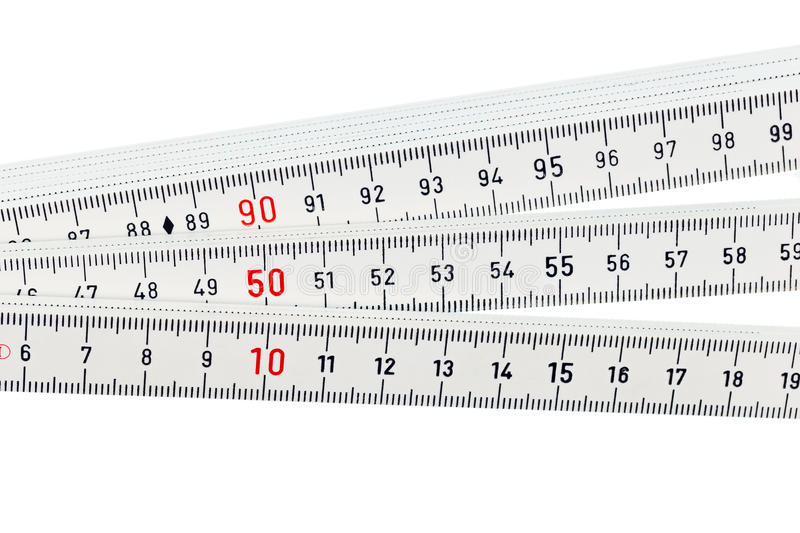 Download White ruler stock photo. Image of scale, isolated, meter - 25048270