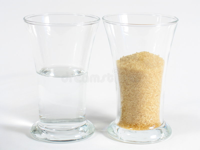 White Rum and Brown Sugar stock photo