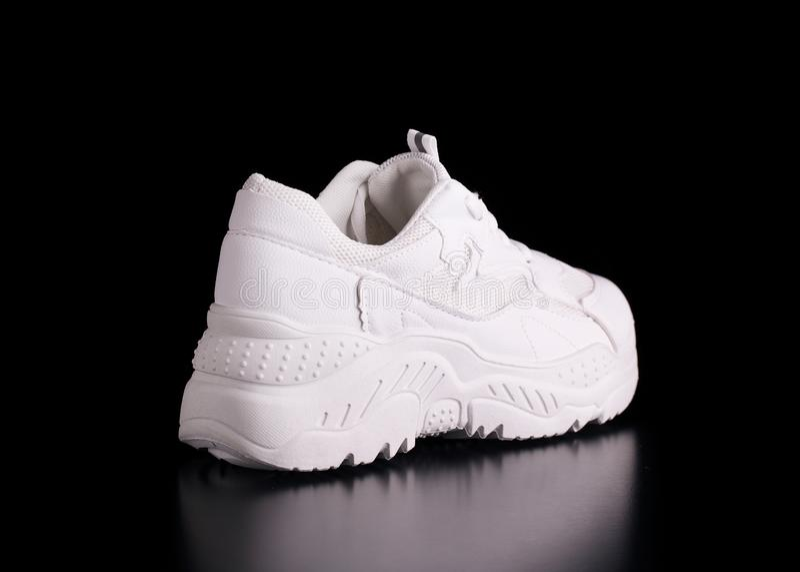 White running shoes stock image. Image