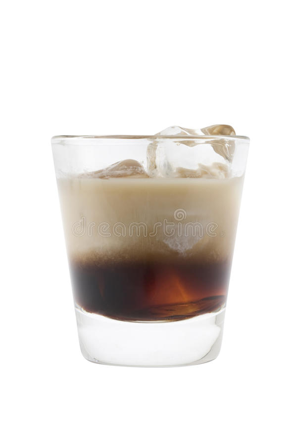 White Russian cocktail royalty free stock photos