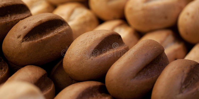 White and rye bread. Few loaves of white and rye bread stock photo