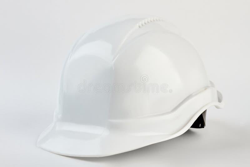 White safety helmet for foreman. stock image