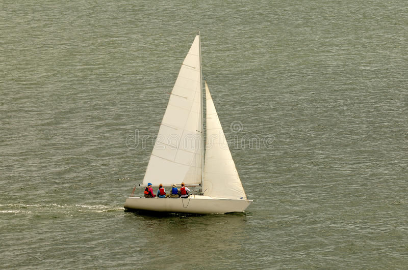 White Sail Boat royalty free stock image
