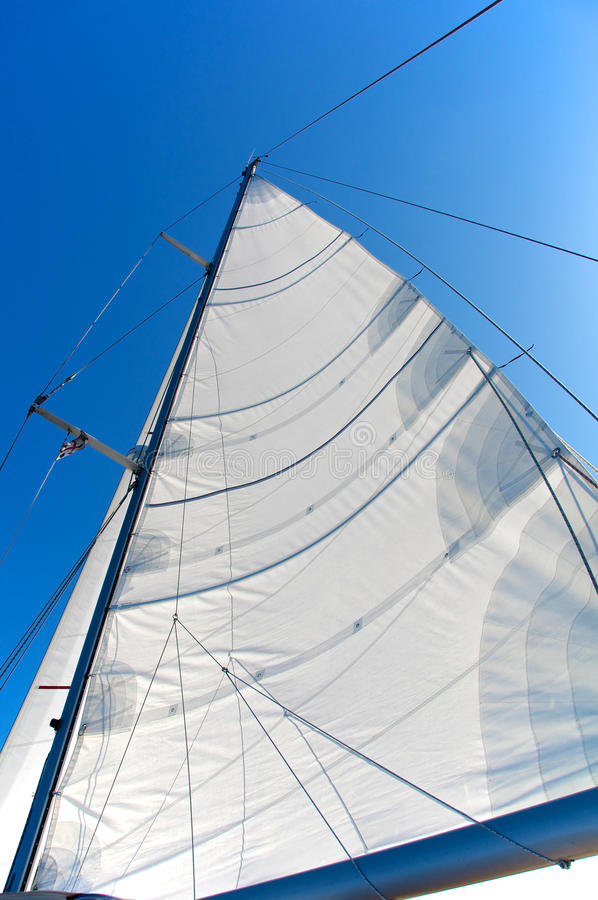 White Sail. Prospective view from the deck stock photography