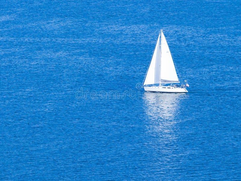 White Sailboat royalty free stock photos
