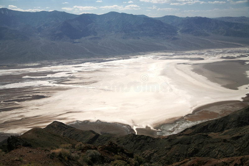 White salt fields-Death Valley in California royalty free stock photography
