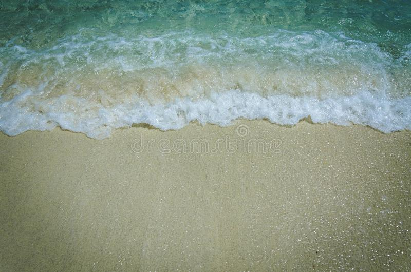 White sand beach of Adang Island , Andaman sea , the southern of stock image