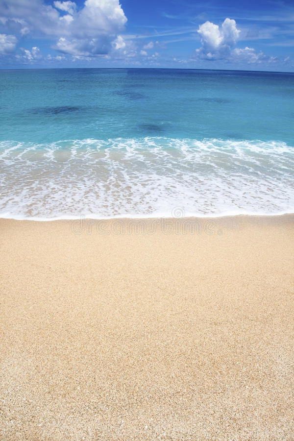 White sand beach and cloud royalty free stock photo