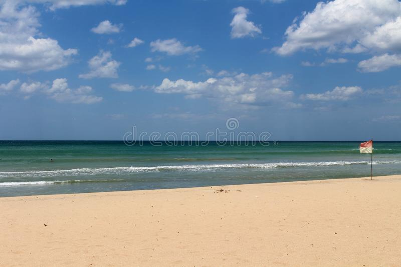 The white sand beach of Nilaveli beach in Trincomalee. Taken in Sri Lanka, August 2018 royalty free stock photography