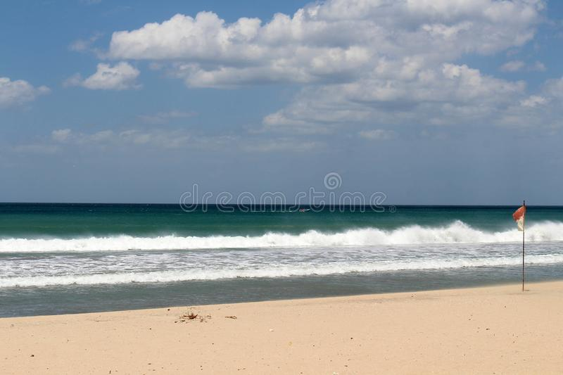 The white sand beach of Nilaveli beach in Trincomalee. Taken in Sri Lanka, August 2018 royalty free stock image