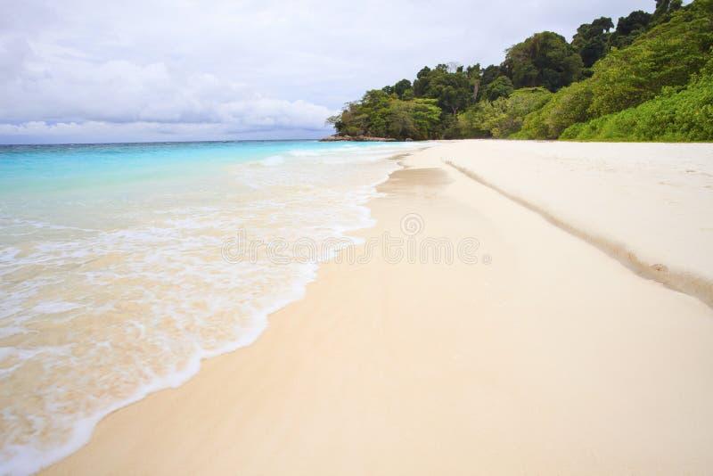 White sand beach of tachai island southern thailand. Similan national park royalty free stock photos