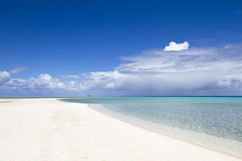 Download White Sand Beach And Turquoise Lagoon Royalty Free Stock Photography - Image: 16690597