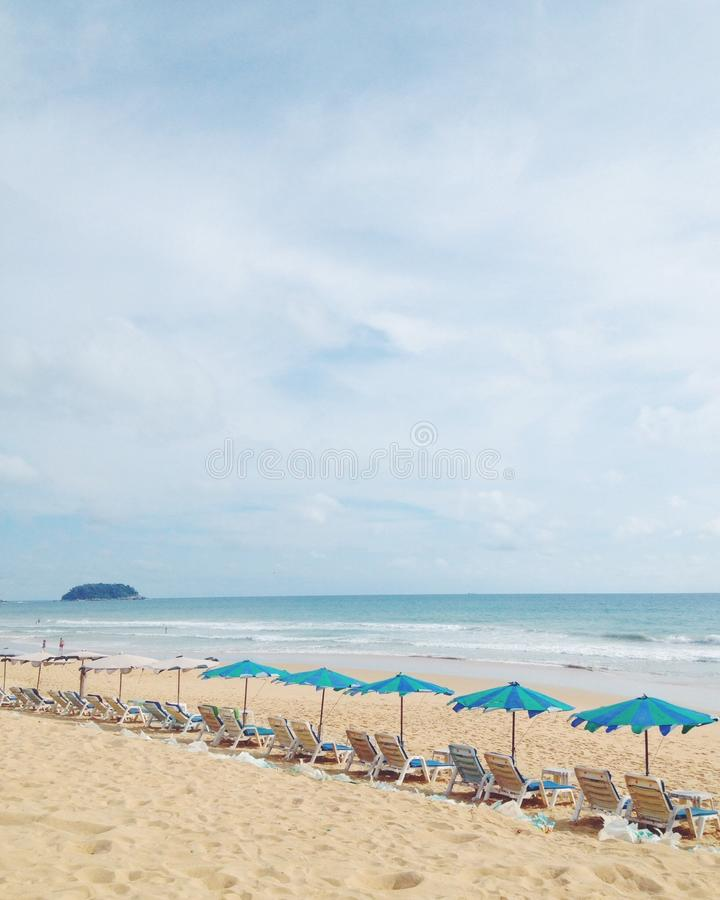 White sand and blue sky royalty free stock photos
