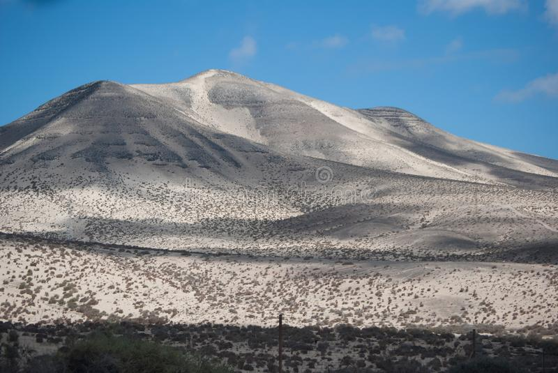 Fuerteventura, white mountain. stock photography