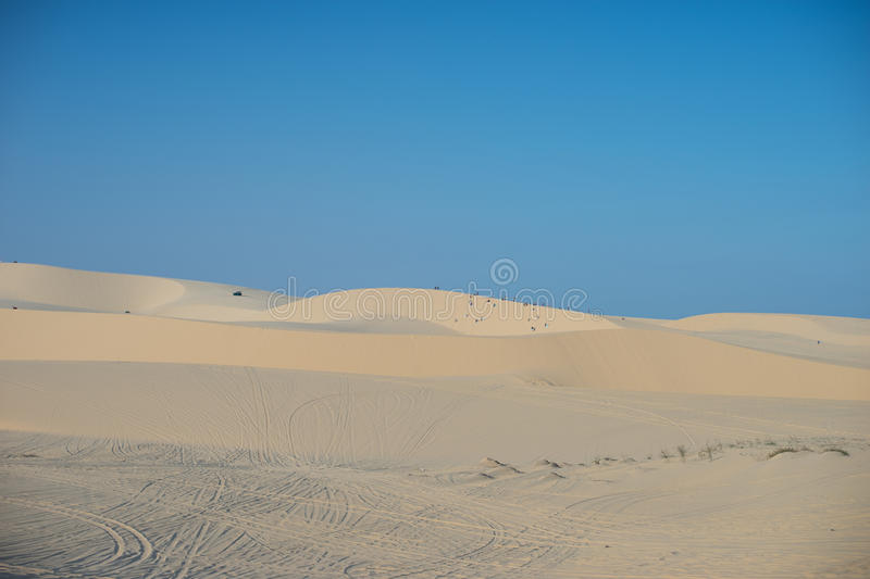 White sand dune Mui Ne Vietnam royalty free stock images