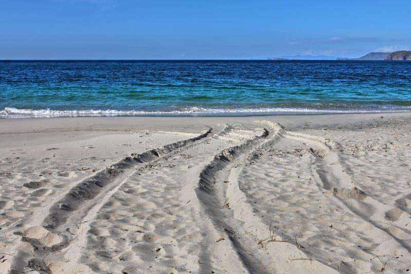 White-sand Playa Conchal, Costa Rica stock photography