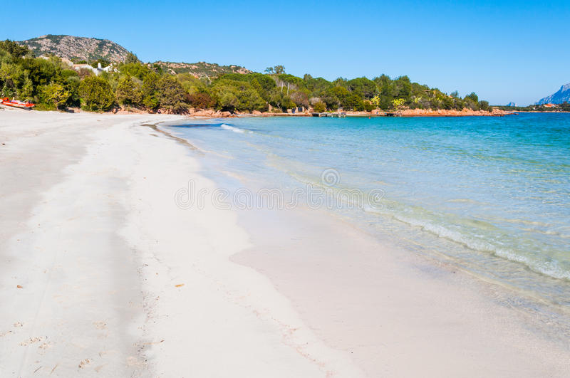 White sand in Porto Istana beach. Sardinia stock image