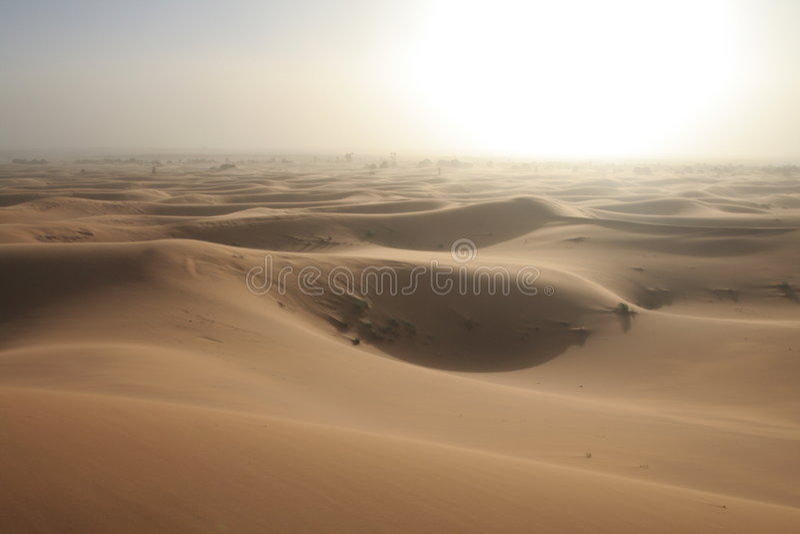 White sand storm royalty free stock photo