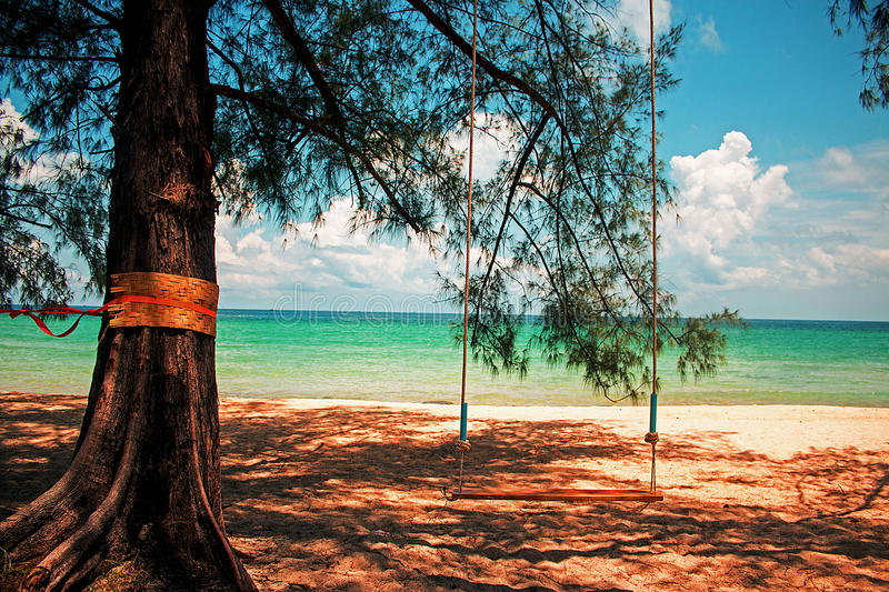 White sand of tropical beach royalty free stock image
