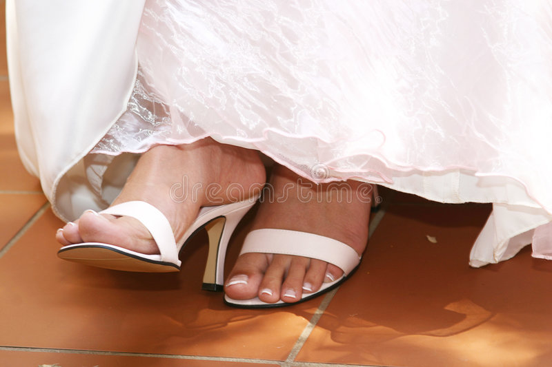 Download White Sandals stock photo. Image of toes, bridal, heels - 110090