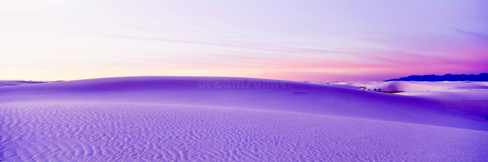 White Sands. National Monument Park royalty free stock photography