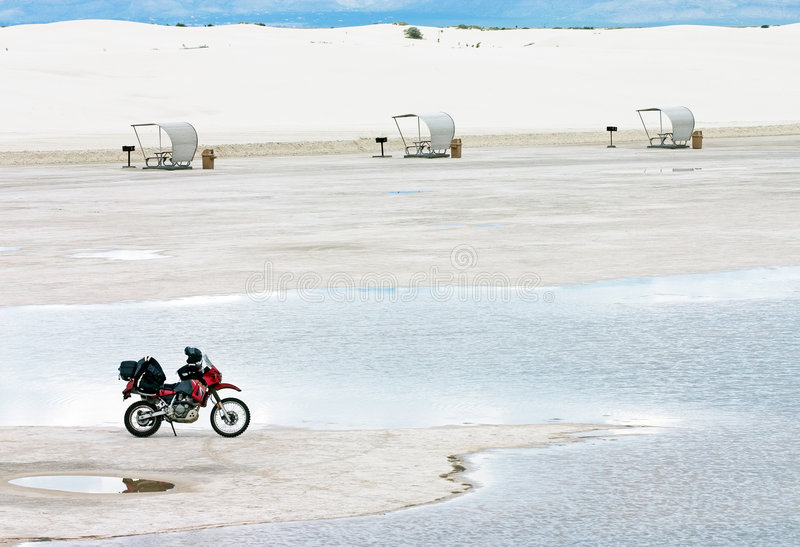 Download White Sands Motorcycle stock photo. Image of sands, water - 393588