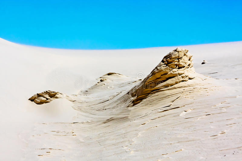 The White Sands Nat. Park. The White Sands Nat. Park , at Alamogordo, New Mexico royalty free stock image