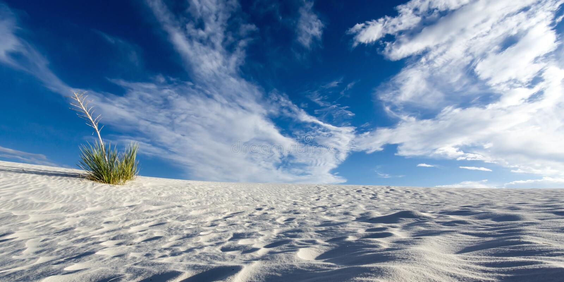 White Sands. National Monument near Alamogordo, New Mexico stock photos