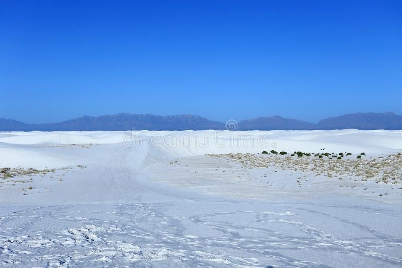 White Sands National Monument in New Mexico, royalty free stock images