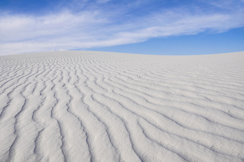 White Sands National Monument, New Mexico (USA). White Sands National Monument in New Mexico (USA stock photo