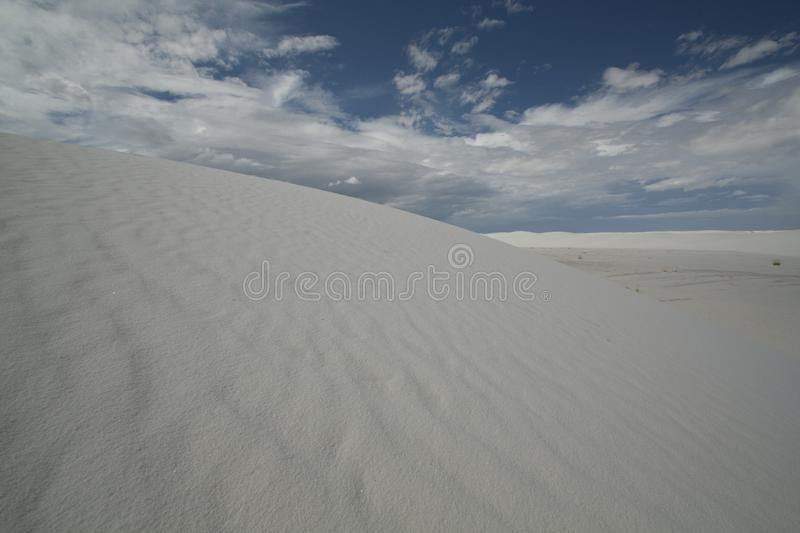 White Sands, National Monument, New Mexico, USA. National Monument, White Sands is in New Mexico, USA. It is no sand but Gypsum stock photos