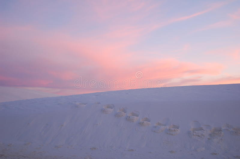 Download White Sands National Park At Sunset, NM Stock Image - Image of blue, desert: 14160867