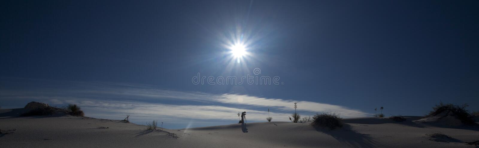 White Sands Sunset stock image