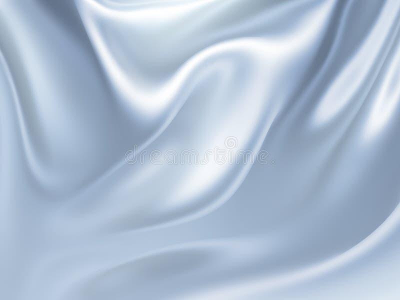 White satin royalty free illustration