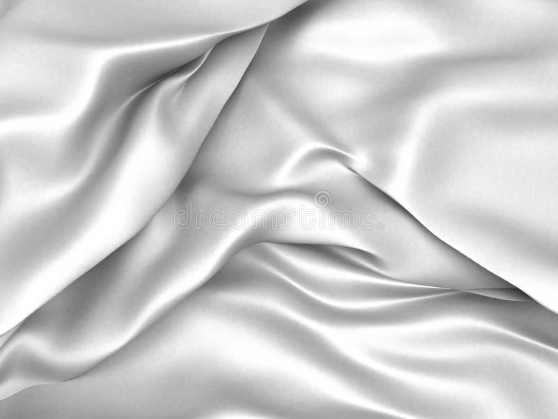 White satin silk texture clean soft background. 3d render illustration stock illustration