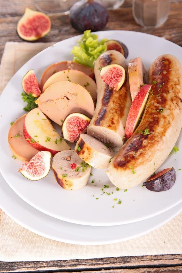 White sausage royalty free stock photo