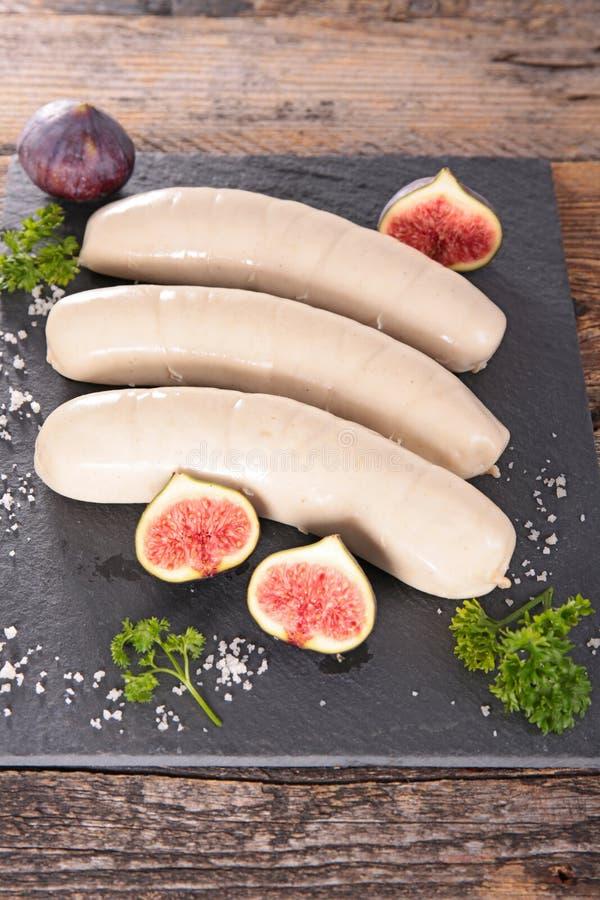 White sausage stock images
