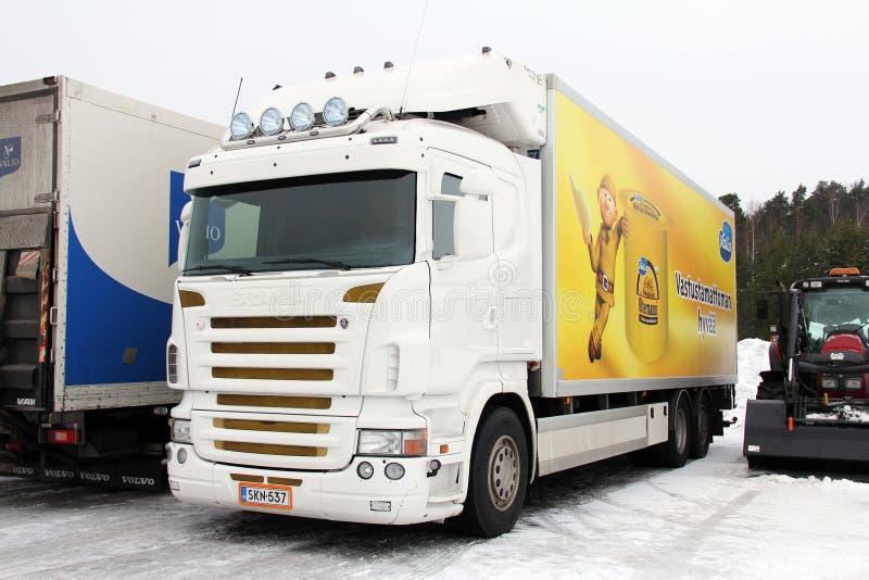 White Scania Truck